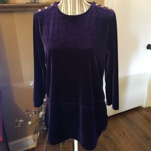 Ralph Lauren purple velvet tunic